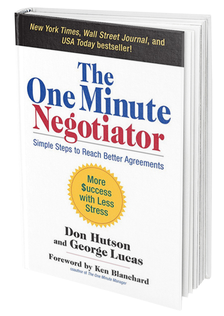 One Minute Negotiator by Don Hutson